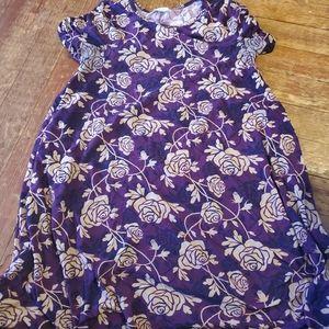 Lularoe legging material  purple  rose carly